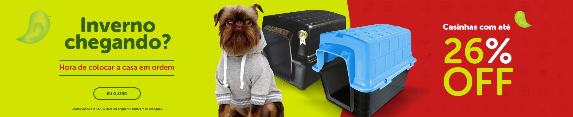 Promoção de inverno casinhas para cachorro