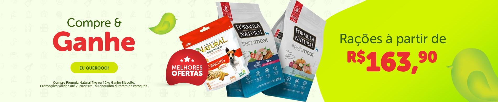 Promoção Ração Fórmula Natural para cachorro| Compre e ganhe 1 biscoito