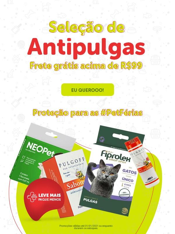 Promoção antipulgas para cachorro e gato