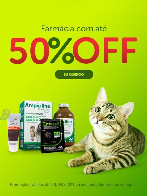 Promoção linha de farmácia pet para cachorro e gato