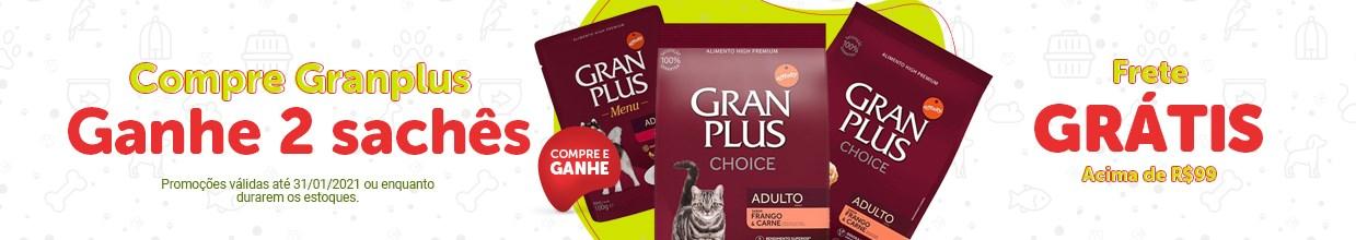 Promoção ração Granplus para cachorro e gato
