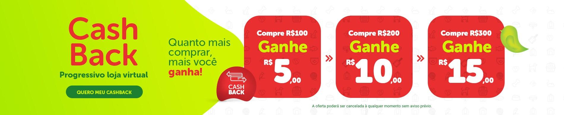 Cashback Poli-Pet em compras à partir de R$ 100