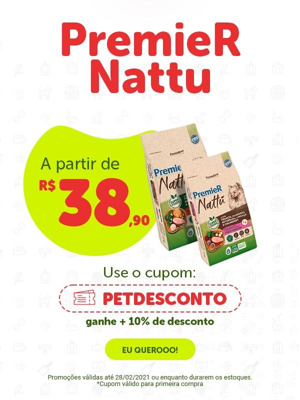 Lançamento ração PremieR Nattu para cachorro
