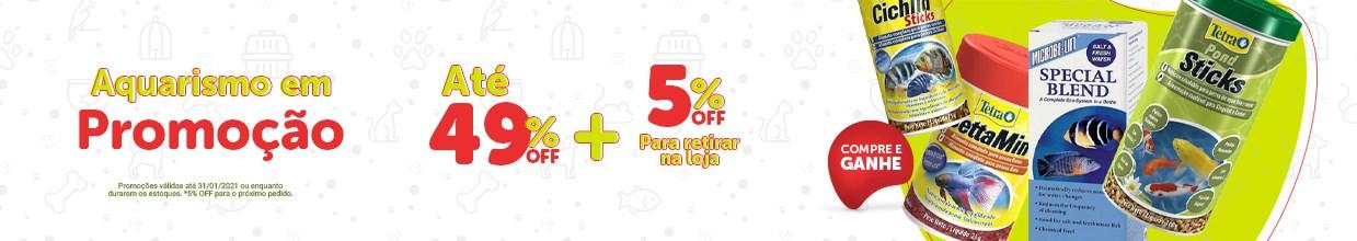 Promoção setor de aquário com até 49% OFF