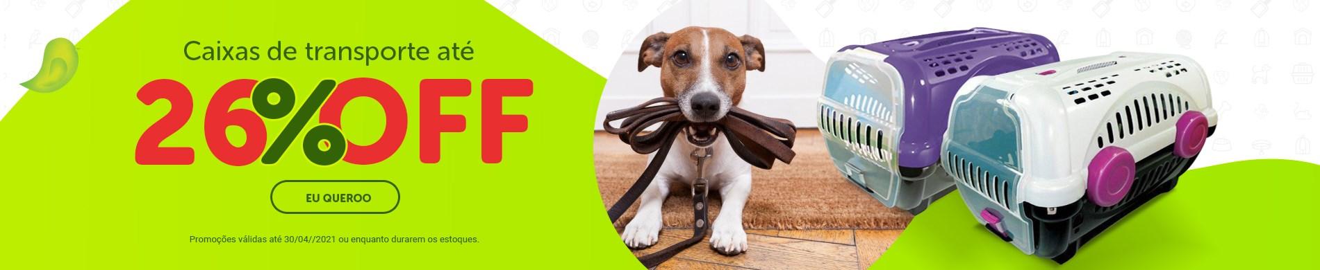 Promoção Caixa de Transporte Furacão Pet