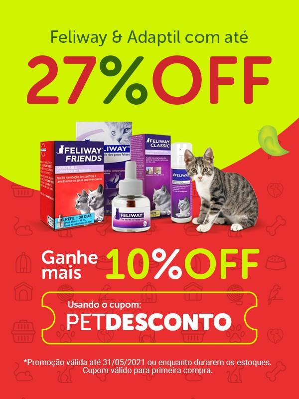 Promoção Feliway e Adaptil para gatos e cachorros