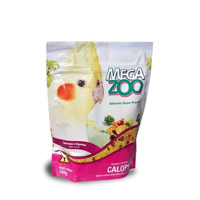 Alimento Megazoo para Calopsitas com Frutas e Legumes 350gr 350g