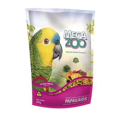 Alimento Megazoo para Papagaio com Frutas e Legumes 600gr