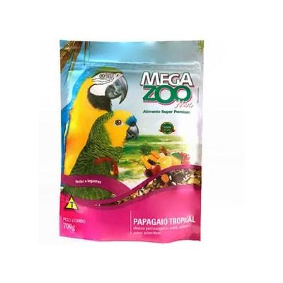 Alimento Megazoo para Papagaio Tropical 700gr