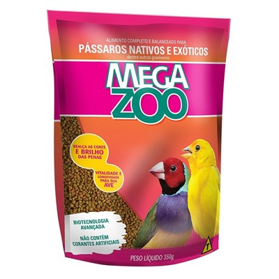Alimento Megazoo para Pássaros Nativos e Exóticos 350gr