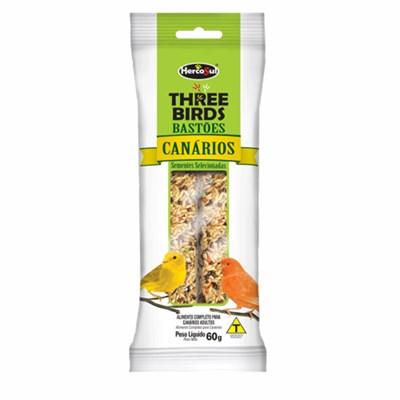 Alimento Three Birds para Canários em Bastão 60gr
