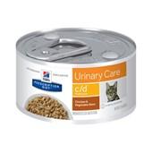 Alimento Úmido Hills Prescription Diet C D para Gatos Adultos Multicare Frango e Vegetais 85gr