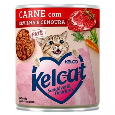 Alimento Úmido Kelcat Carne, Ervilha e Cenoura 280gr
