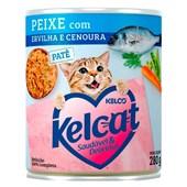 Alimento Úmido Kelcat Peixe, Ervilha e Cenoura 280gr