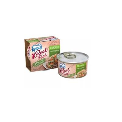 Alimento Úmido Kelcat Real Food Frango com Vegetais 85gr