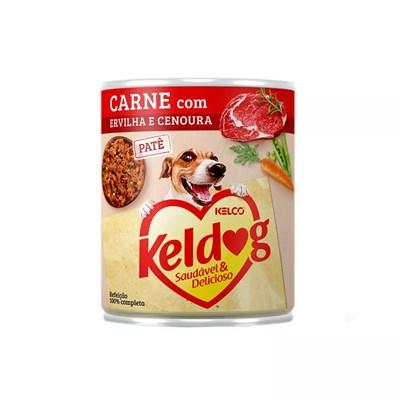 Alimento Úmido Keldog para Cães Carne, Ervilha e Cenoura 280gr