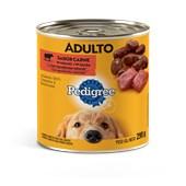 Alimento Úmido Pedigree Lata para Cães Adultos Carne ao Molho 290gr