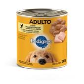 Alimento Úmido Pedigree Lata para Cães Adultos Frango ao Molho 290gr