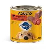 Alimento Úmido Pedigree Lata Patê para Cães Adultos Carne 280gr