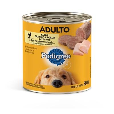 Alimento Úmido Pedigree Lata Patê para Cães Adultos Frango 280gr