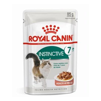 Alimento Úmido Royal Canin Sachê para Gatos Adultos Instinctive mais de 7 anos 85gr
