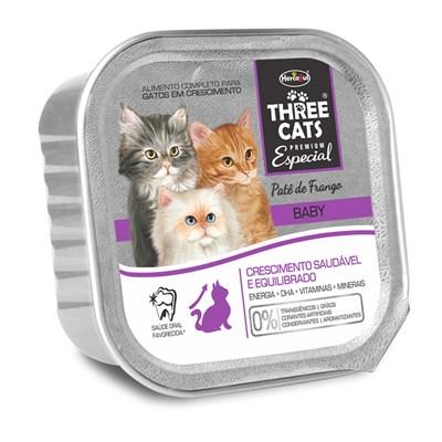 Alimento Úmido Three Cats Baby Frango 90gr