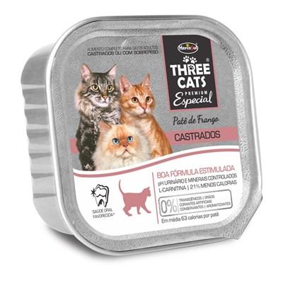 Alimento Úmido Three Cats Boa Forma Castrado Frango 90gr