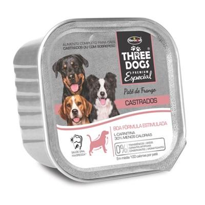 Alimento Úmido Three Dogs Castrado Frango 150gr