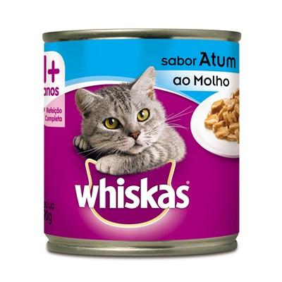 Alimento Úmido Whiskas Lata para Gatos Adultos Atum ao Molho 290gr