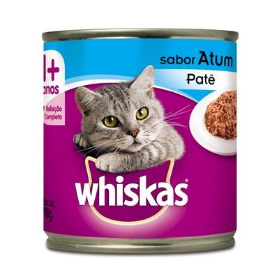 Alimento Úmido Whiskas Lata Patê para Gatos Adultos Atum 290gr
