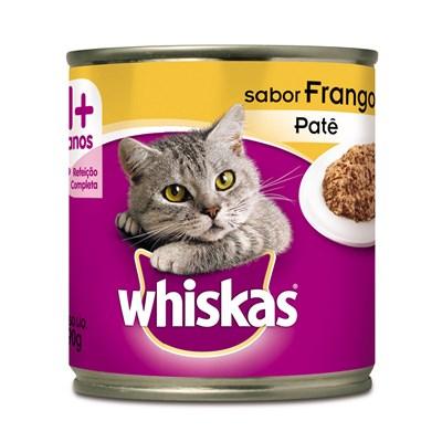 Alimento Úmido Whiskas Lata Patê para Gatos Adultos Frango 290gr