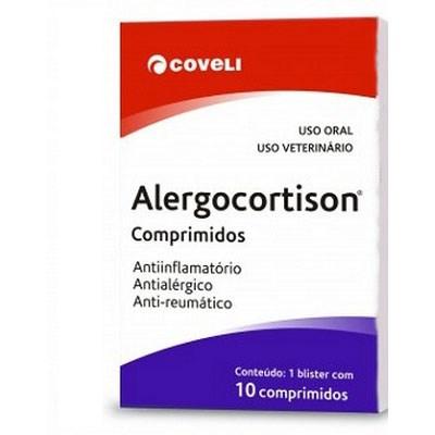 Anti inflamatório Alergocortison para Cães e Gatos 10 Comprimidos