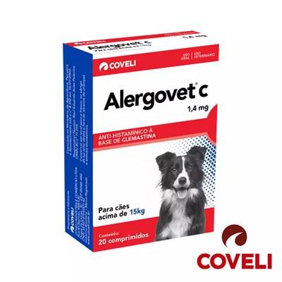Anti inflamatório Alergovet C para Cachorros e Gatos 1,4Mg 20 Comprimidos