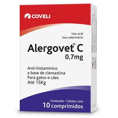 Anti inflamatório Alergovet C para Cães e Gatos 0,7 mg
