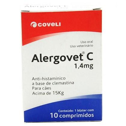 Anti inflamatório Alergovet C para Cães e Gatos 1,4 mg