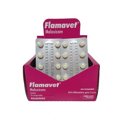 Anti inflamatório Flamavet 0,2mg para Gatos Blister com 10 comprimidos
