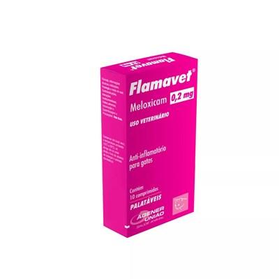 Anti inflamatório Flamavet 0,2mg para Gatos Caixa com 10 comprimidos