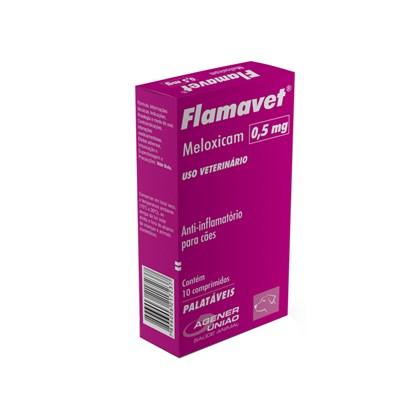Anti inflamatório Flamavet para Cães Caixa com 10 comprimidos 0,5 mg