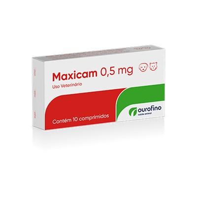 Anti inflamatório Maxicam para Cães e Gatos com 10 Comprimidos 0,5 mg