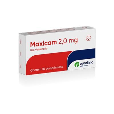Anti inflamatório Maxicam para Cães e Gatos com 10 Comprimidos 2,0 mg