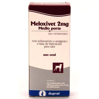 Anti inflamatório Meloxivet para Cães e Gatos com 10 Comprimidos 2mg
