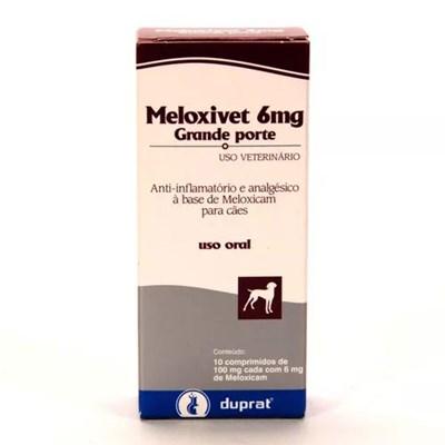 Anti inflamatório Meloxivet para Cães e Gatos com 10 Comprimidos 6mg