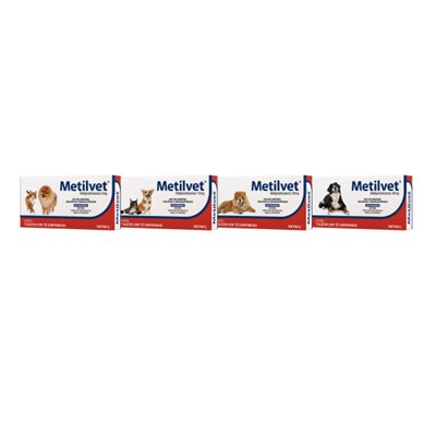 Anti-inflamatório Metilvet com 10 Comprimidos 20,0mg