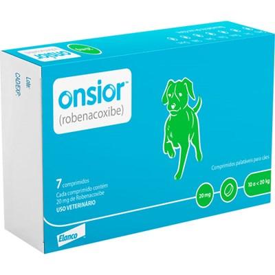 Anti inflamatório Onsior para Cães com 7 Comprimidos 20mg