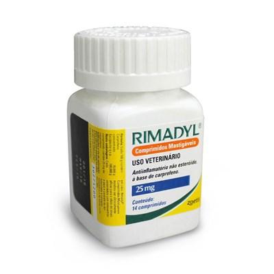 Anti Inflamatório Rimadyl para Cães com 14 Comprimidos 25mg