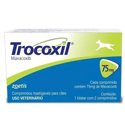 Anti Inflamatório Trocoxil com 2 Comprimidos para Cães 75mg