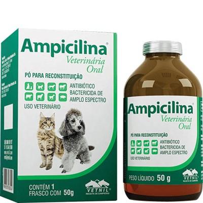 Antibiótico Ampicilina Oral para Cães e Gatos 50gr