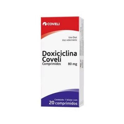 Antibiótico Doxiciclina para Cães e Gatos 80mg com 20 Comprimidos