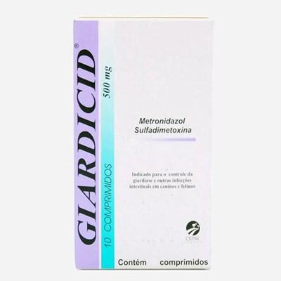 Antibiótico Giardicid 500mg para Cães e Gatos 10Un