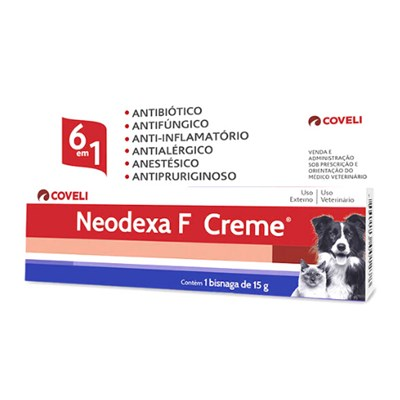 Antibiótico Neodexa Creme para Cães e Gatos 15gr